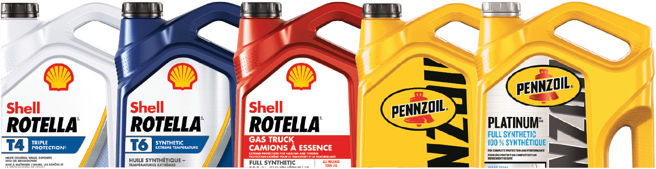 5L Shell and Pennzoil jugs